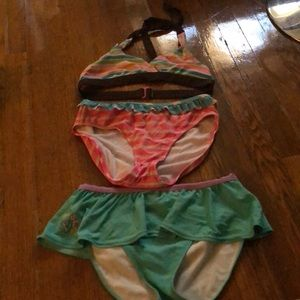 Girls' Children's Place swim suit bikini 14 16 S